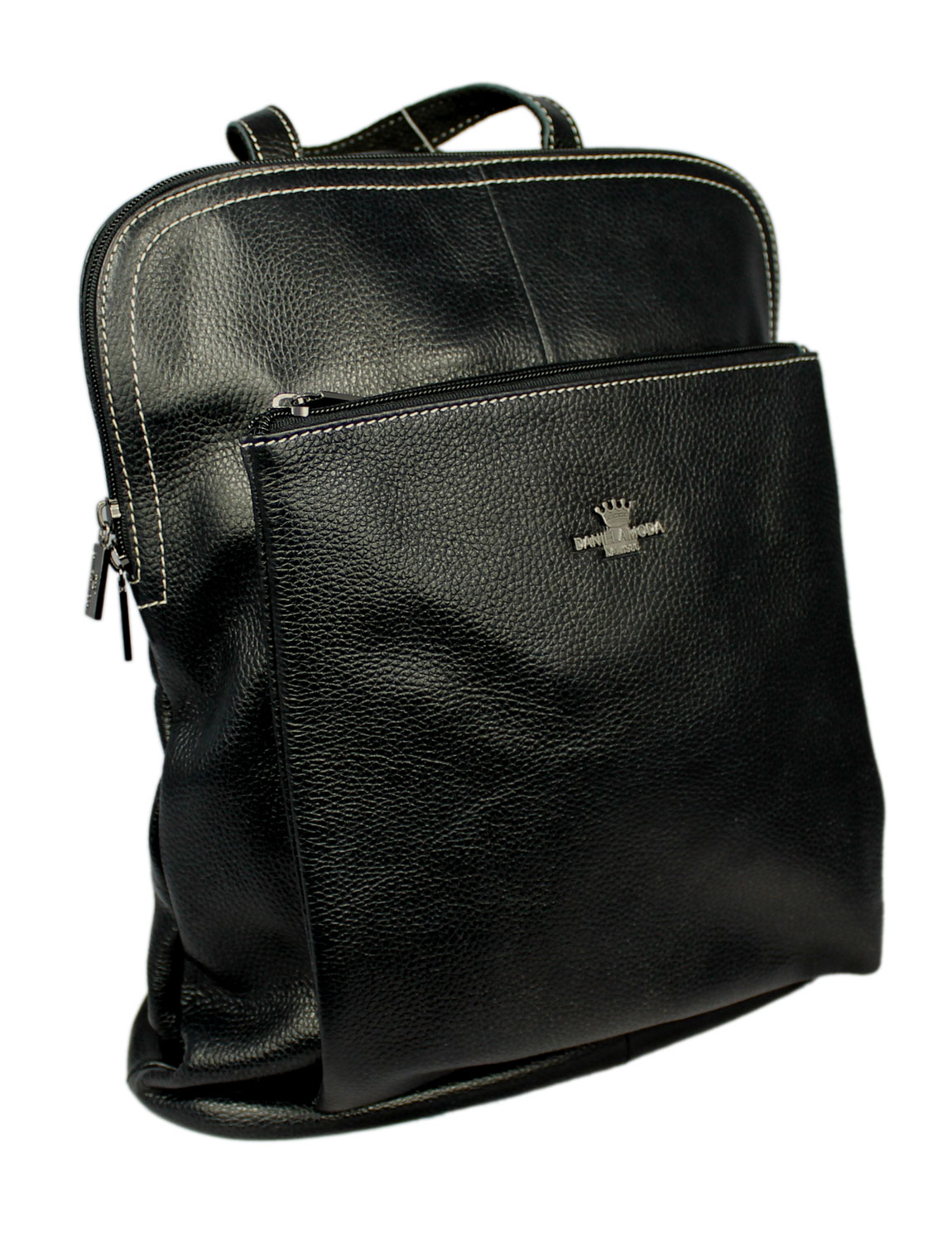 Florence Soft Leather Rucksack in Black